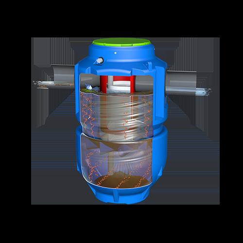 Le décanteur particulaire vertical compact pour le traitement des eaux de ruissellement